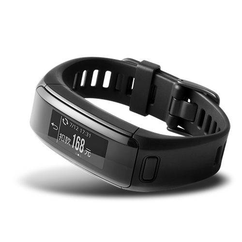 GARMIN vivosmart HR iPass 【 黑 / 藍 / 紫 】手腕式心率智慧手環 一卡通行動支付 NFC