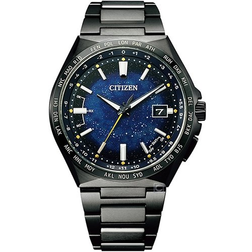 CITIZEN星辰 星空藍超級鈦限量款電波男錶(CB0219-50L)