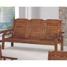 【森可家居】雲杉中式復古板椅三人沙發 8SB133-4 實木 MIT 台灣製造