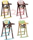 *幼之圓*最新款升級版~可愛動物實木餐椅~立式可折合餐桌椅~兒童實木餐椅~檢驗合格~