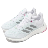 adidas 慢跑鞋 Pureboost 21 W 白 灰 粉紅 愛迪達 路跑 回彈中底 女鞋 【ACS】 GY5097
