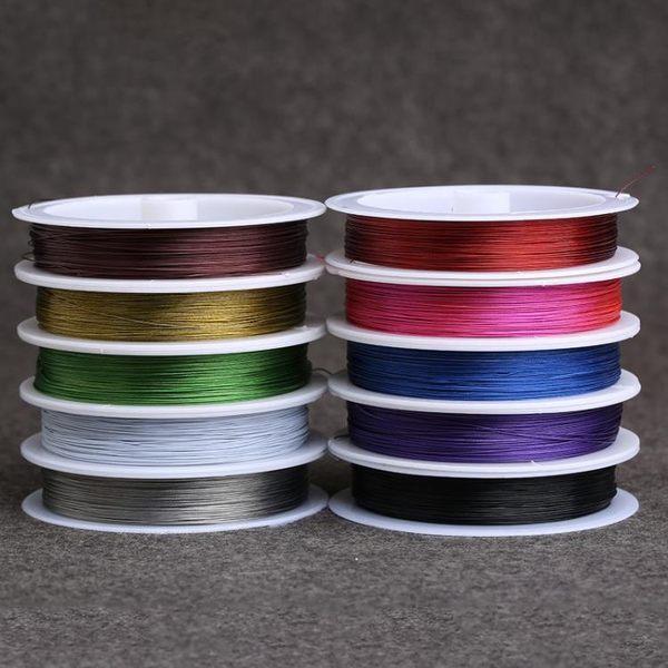 [超豐國際]彩色銅線 穿佛珠引線銅絲線 手工串珠工具鋼絲線串1入