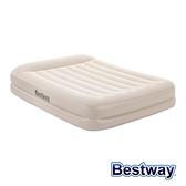 【南紡購物中心】Bestway。雙人舒適型加厚自動充氣床-米白 67697E