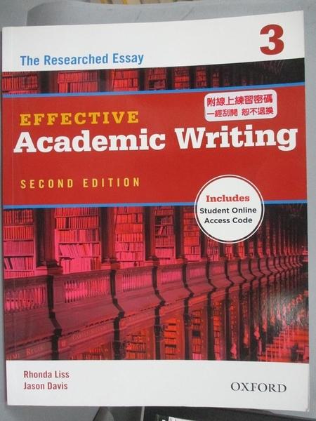 【書寶二手書T1/語言學習_QDM】Effective Academic...-Level 3: the Researched Essay_Liss