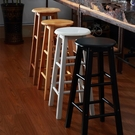 實木吧台椅酒吧高腳凳簡約奶茶店高椅子家用現代北歐手機店高凳子 小山好物