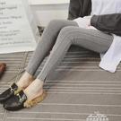 打底褲女外穿薄款韓版顯瘦純棉高腰緊身小腳褲灰色秋褲內穿學生 交換禮物