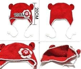 【發現。好貨】韓國新款花朵針織帽 兒童保暖帽 護耳帽 嬰幼兒帽