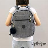Kipling 淺麻藍灰後背包-大