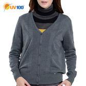UV100 防曬 保暖毛衣針織外套-女