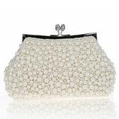 珍珠晚宴包-婚禮宴會氣質時尚女手拿鏈條包71as11【巴黎精品】