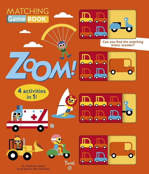 Matching Game Book:Zoom! 交通工具配對遊戲書