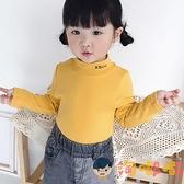女童t恤寶寶打底衫高領純棉兒童長袖秋衣秋裝男童上衣【淘嘟嘟】