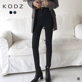 東京著衣【KODZ】韓版時尚雙環設計修身鉛筆褲/牛仔褲-M.L(192110)