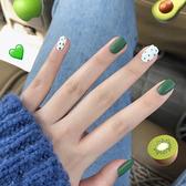 美甲指甲貼片穿戴式女甲片成品可反復使用拆卸假指甲學生 茱莉亞