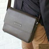 Roberta Colum - 時尚鉚釘軟牛皮帥氣型男實用斜背包-咖色