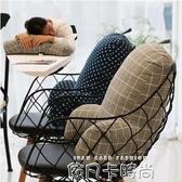 靠枕辦公室上班座椅子護腰墊孕婦床頭腰靠墊午睡抱枕辦工腰部靠背QM 依凡卡時尚