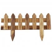 尖頭插地圍籬 燻木色