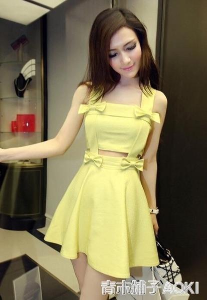 春裝新款無袖洋裝小禮服衣服氣質夜店性感女裝吊帶波點洋裝 青木鋪子