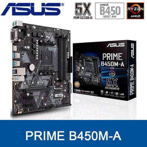 【免運費】ASUS 華碩 PRIME B450M-A 主機板  mATX / AM4 腳位 ( RYZEN )