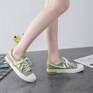 帆布鞋 小白鞋女夏秋季帆布鞋女2020年新款百搭板鞋女韓版ulzzang潮鞋子 伊蘿