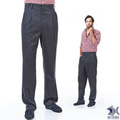 【NST Jeans】002(8893) 英倫紳士灰 羊毛打摺西裝褲(中高腰寬版)