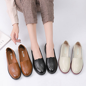 媽媽鞋單鞋女軟底舒適中老年皮鞋女平底鞋大碼中年新款春季單鞋女