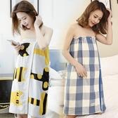 浴巾純棉全棉紗布吸水速乾可穿裹巾女性感可愛抹胸韓版網紅大浴裙 潮流時