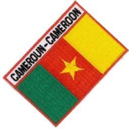 喀麥隆 Cameroun 全繡 補丁圖案 國旗 貼布繡 3D 圖案貼 熨燙 燙貼片 背膠 燙布貼 衣服 臂章1入