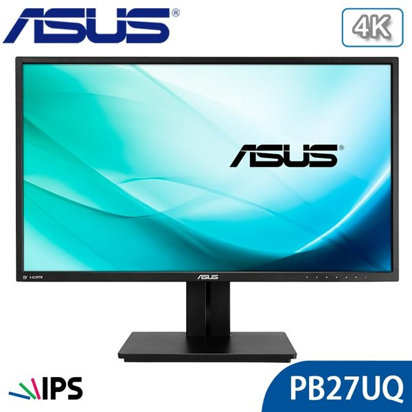 【免運費】ASUS 華碩 PB27UQ 27吋 4K IPS 專業螢幕 廣視角 內建喇叭 雙HDMI 子母畫面
