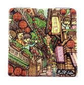 【收藏天地】台灣紀念品*雙面隨身鏡-漫步九份/小物 送禮 文創 風景 觀光  禮品