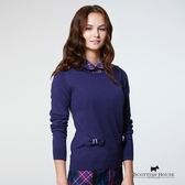 雙立體蝴蝶結點綴針織上衣 Scottish House【AB1416】