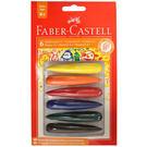 【奇買親子購物網】德國輝柏 Faber-Castell 子彈可擦拭學齡蠟筆-6色