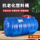 水桶 化工桶食品級塑料臥式加厚藍色大水桶防曬大膠桶曬水桶儲水桶水塔 米家WJ