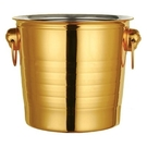 不銹鋼冰桶高顏值大容量大號日式奶茶店輕奢專用擺攤小號冰塊簡約 夢幻小鎮「快速出貨」