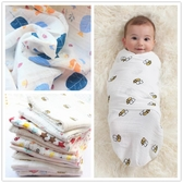 muslin棉新生兒水洗紗布襁褓包巾寶寶浴巾嬰兒包巾春夏空調被薄款
