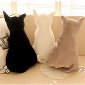 【00167】 !!兩隻以上請宅配!!背影貓咪抱枕 療癒系喵星人 貓咪造型絨毛玩偶 靠墊 45cm