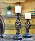 歐美式咖啡廳復古燭臺擺件婚慶燭光晚餐道具餐桌裝飾BS21329『科炫3C』
