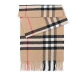 【BURBERRY】基本款經典格紋喀什米爾圍巾(駝色) 8018173