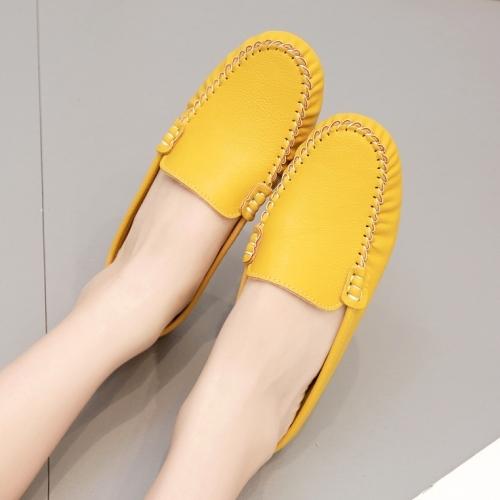 【36-41全尺碼】平底拖鞋.MIT舒適純色軟底豆豆穆勒鞋.白鳥麗子