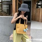 包包女包新款2020韓國狗牙包菜籃子托特包單肩大容量手提包女小包  牛轉好運到