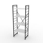 (組)特力屋萊特四層架黑框/白板-60x40x158cm