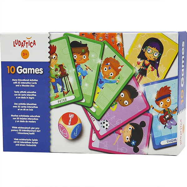 【樂桌遊】10合1益智卡牌 10 Games(英) 47246