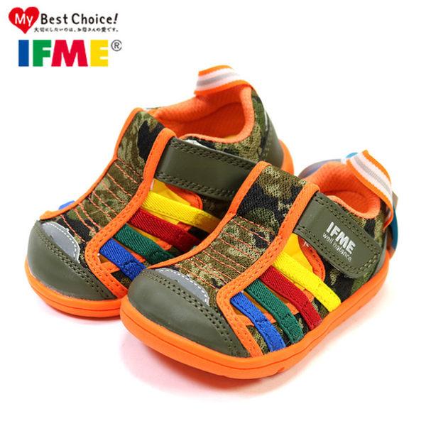 日本IFME寶寶款 夏日帥氣迷彩透氣機能水涼鞋.包頭涼鞋.童鞋~EMMA商城