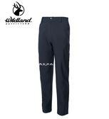 丹大戶外用品 荒野【Wildland】男彈性輕三層防風保暖長褲 型號 0A62306-54 黑色