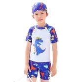 兒童泳衣 兒童泳衣 男童 分體小中大童可愛溫泉嬰兒泳褲小孩泳裝寶寶游泳衣 七色堇