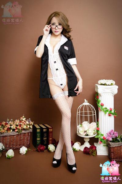 【愛愛雲端】黑有袖外套+白連身勾人秘書服 R8Y6656