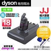 送前後置濾網 JJ dyson v6系列 SV03 SV09 DC59 DC61 DC62 DC74 副廠鋰電池 保固18個月 時間長達30分