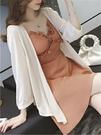 針織開衫女防曬衣冰絲小披肩薄外套春秋天空調衫短款長袖外搭