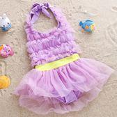 兒童游女孩可愛連體泳裝分體比基尼公主蕾絲裙大中小女童  限時八折鉅惠 明天結束