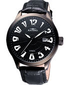 KATINO 紳士家大錶徑機械腕錶-黑 K5739DB